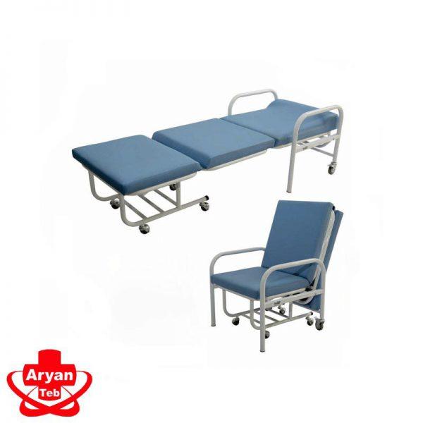 قیمت و خرید صندلی همراه بیمار تاشو تختشو بیمارستانی در فروشگاه تجهیزات پزشکی آرین طب کرج مرکز فروش آنلاین انواع لوازم پزشکی